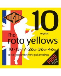 Rotosound R10 Roto Yellows Electric Guitar Strings Gauge 10-46