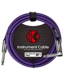 KIRLIN 10FT ANGLED CABLE - PURPLE