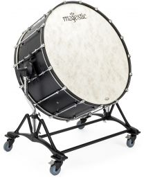 "Majestic Concert Black Bass Drum with Concert Stand 28""-40"""