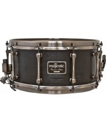 "Majestic 14""x6.5"" Maple Concert Black Snare Drum - Mega Combo Snares"