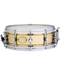 """Majestic 14""""x5"""" Brass Prophonic Snare Drum"""