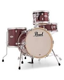 "Pearl Midtown 16"" BD Black Cherry Glitter With Bag set"