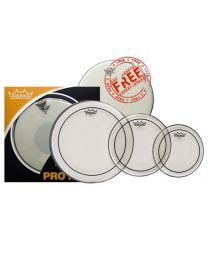 """Remo Pinstripe Clear Drum Head Pro Pack - 10,12,16 + 14"""" Coated Ambassador"""