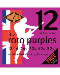 Rotosound R12 Roto Purples Electric Guitar Strings Gauge 12-52