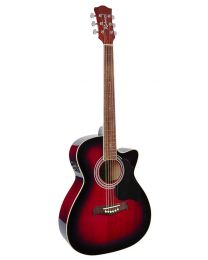 Richwood RA-12-CERS Artist series Electro-acoustic Guitar - Red Sunburst
