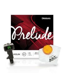 D'Addario Prelude Violin Strings and Accessories Bundle