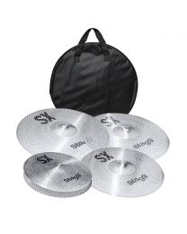 Stagg Silent Cymbal Set with Bag